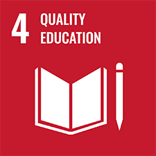 UN SDG number 4 Quality Education logo