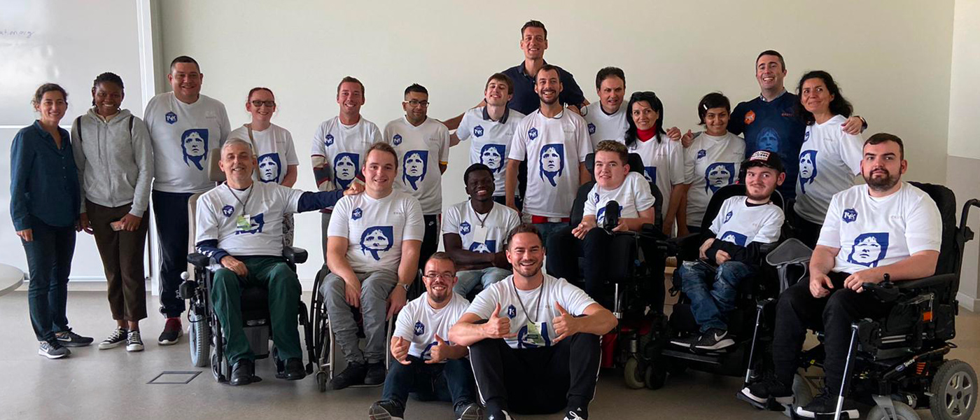 Football For All Leadership Programme class of 2019 with Integrated Dreams team, Niels Meijer and Céline Beaurain-Casemi at Nova SBE University